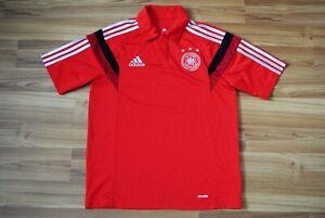 DFB ADIDAS POLO SHIRT GERMANY D83045 FOOTBALL FAN POLO SHIRT SIZE MEDIUM 2013/14