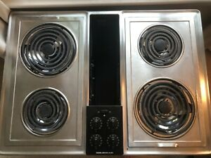 """Jenn Air Stainless 30"""" Electric Downdraft Drop-in Cooktop w/Grill & Griddle LOOK"""