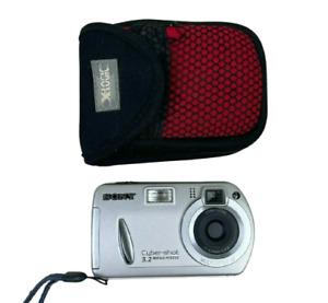 Sony Cyber-Shot 3.2 DSC-P32 Digital Camera Silver + Case