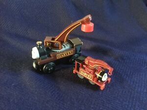 HARVEY - Thomas & Friends - Brio wooden railway scale & a smaller wind up toy.