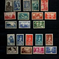 France : 21 timbres neufs années 38/40 cote >150
