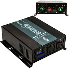 1500W 12V/24V/48V DC to 120V/220V AC Off Grid Pure Sine Wave Power Inverter