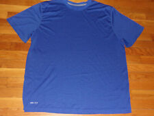 Nike Dri-Fit Short Sleeve Blue Jersey Mens 2Xl Excellent Condition