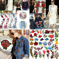 DIY Embroidered Iron Sew on Patch Clothes Fabric Sticker Badge Clothes Applique