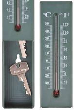 Esschert Design Thermometer mit Schlüsselversteck Versteck für Schlüssel Ablage