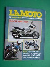 LA MOTO Novembre 1989 BMW R 100 GS Paris Dakar Aprilia RX 125 + inserto e Poster