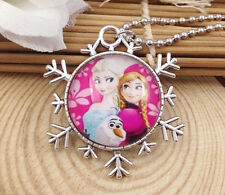 Hot FROZEN PENDANT Silver Plated CHAIN NECKLACE ROYAL PRINCESS Y1