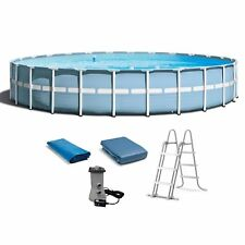 "Intex 24'x 52"" Prism Frame Above Ground Swimming Pool w/ Ladder & Filter Pump"