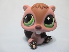 Littlest Pet Shop #1108 Around the World Beaver Green Eyes 100% Authentic LPS