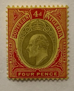 TRAVELSTAMPS: 1904-1907 SOUTHERN NIGERIA STAMPS SG #26 4 Pence KEVII  MHOG
