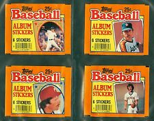 (4) 1984 TOPPS STICKERS WRAPPERS - GUIDRY RYAN SCHMIDT YOUNT (NM-MT) / LOT OF 4