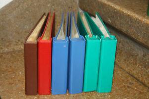 Sechs Alben für Briefe/Ersttagsbriefe