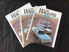 Original 1980 Chevrolet Wagons Malibu Wagons NOS Sales Brochures Lot Of 3