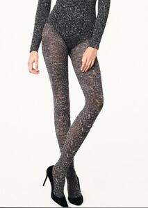 WOLFORD CLUSTER Tights in Black/Ash Sz: S  Ret:$67  New/Packaged