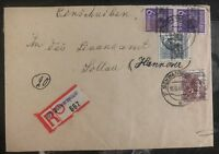 1948 Schwarmstadt Germany AMG Registered Cover To Hannover
