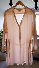 NOA NOA Sand Dollar 1-5987-1 Long Sleeve Button Front Cream White Dress w/ Belt