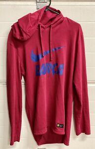 Nike Barca burgundy long sleeve tshirt hoodie hooded mens size S