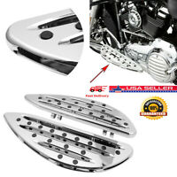 CNC Front Driver Stretched Floorboards Chrome For Touring Softail Dyna USA AF2