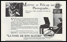 PUBLICITE  GRAMOPHONE  LA VOIX DE SON MAITRE   AD  1933 -2h