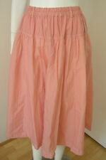 YACCO MARICARD Pink Cotton Lagenlook  Pleated Skirt One Size Japan