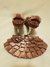 New Look Rose Gold Pink Stilleto Heel Court Shoes UK4/EU37 Narrow Fit & Clutch