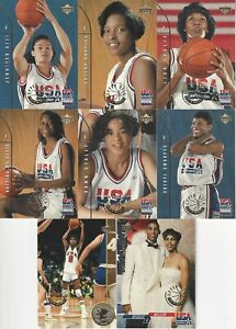 1994 UPPER DECK USA WOMEN'S BASKETBALL 8 CARD * GOLD MEDAL * SUBSET LESLIE +++