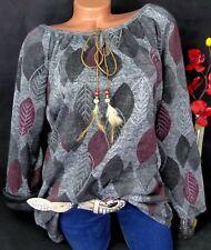 Tunika Shirt Pullover Bluse Kleid Lagenlook Longshirt Traumfänger XXL 46 48