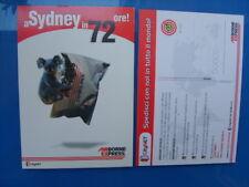 Airline issue postcard- air borne express sydney australia Advert   destination