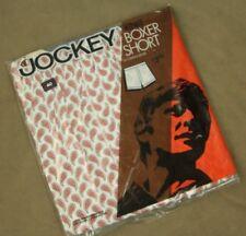 Nos Vtg 70s Jockey Boxer Shorts Knit Cotton Size 40 Paisley