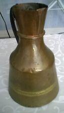 ANCIEN pichet en cuivre Antique fait main cruche.
