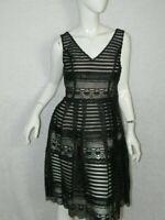NEW Modcloth Dress Black Illusion Fit and Flare Sleeveless Dress