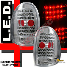 96-00 Dodge Caravan Durango Voyager Chrome LED Tail Lights 1 Pair