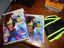 ZUMBA FITNESS 2 (Nintendo Wii - 2011) Boxed Set Game with unused Belt