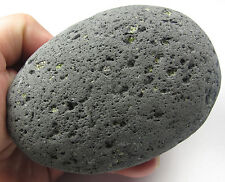 HUGE Lava Basalt Kali Goddess Perdoit Citrine Pleiadian Light Stone Crystal 2