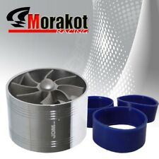 "3"" Tornado Turbonator Intake Single Fan Gas Fuel Saver Supercharger Chrome"