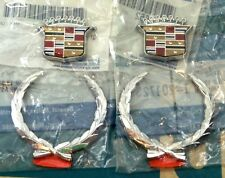 NEW 70's 80's 90's CADILLAC ROOF CREST WREATH NOS EMBLEM SET SAIL PANEL ORNAMENT