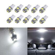10x White T10 168 194 2825 W5W 5 SMD LED Dome Map Cargo 10xM1