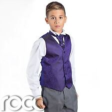 Boys Purple & Grey Suit, Page Boy Suits, Boys Wedding Suits, Boys Suits, Swirl