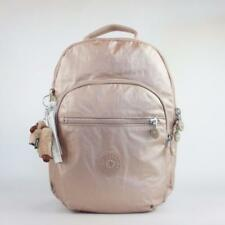 KIPLING SEOUL GO Small Backpack with Laptop Protection Rose Gold Metallic