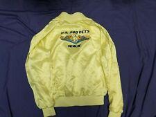 Vintage Us Wwii World War 2 Sub Vets Satin Bomber Jacket Sz L