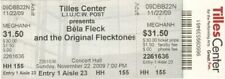 Bela Fleck & the Flecktones Original Unused Ticket Long Island 2009