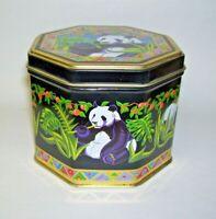Panda Bear Hinged Tin Box