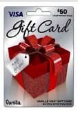 $50 Vanilla Gift Card- Activated and ready for use ** NO Fees