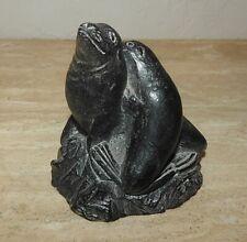 The Wolf Original Sculpture Sea Lions Figurine Hand Carved Soapstone Canada