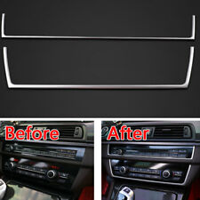 2Pcs Control Center Dashboard Switch Cover Trim Strip For BMW 5 Series F10 11-16