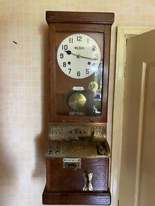 Antique Clocking in Machine Blick & Gledhill Brook