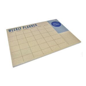 Weekly Planner Desk Pad Contains 50 Sheets 100gsm Paper Quality - Weekly View