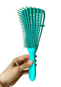 2PCS Hair Detangler Brush for Afro America/African Hair,Anti-Static Scalp Comb