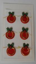 *BARGAIN* RED XMAS WIRE PUDDINGS EMBELLISHMENTS FOR CARDS & CRAFTS-BARGAIN 99P