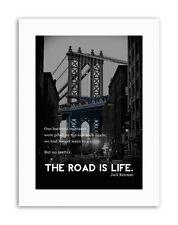 Jack Kerouac Road Is Life Poster taux Canvas Art Prints